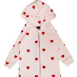 Hugo Loves Tiki Red Hearts Jumpsuit NWT